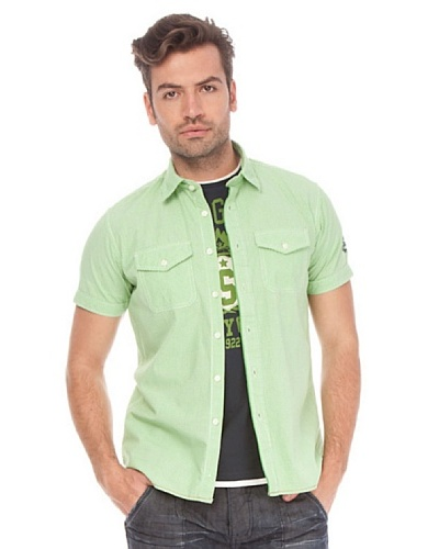 Springfield Camisa Verde / Blanco