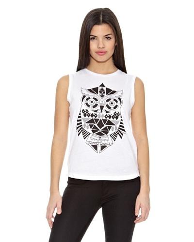 Springfield Camiseta T Gráfica Buho Blanco