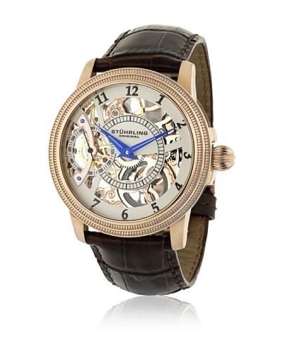 Stührling 22833452 Reloj de Caballero movimiento automático con correa de piel