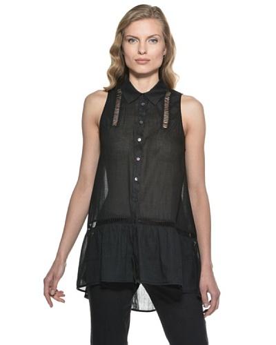 Stefanel Camisa Negro
