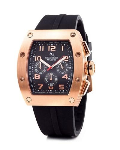 Strumento Marino SM056RRGBK – Reloj  Caballero   cuarzo  correa  caucho Oro Rosa / Negro