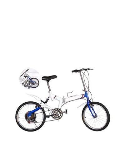 SVG Bicicleta Plegable Urban Azul / Blanca Unica