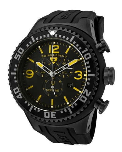 Swiss Legend Reloj Cronógrafo Neptune Negro