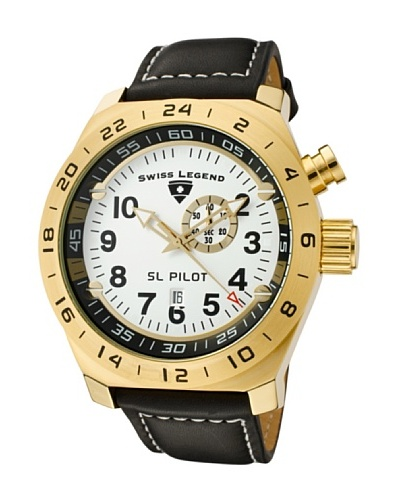 Swiss Legend Reloj Pilot GMT Negro