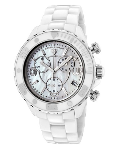 Swiss Legend Reloj Karamica Chrono Blanco