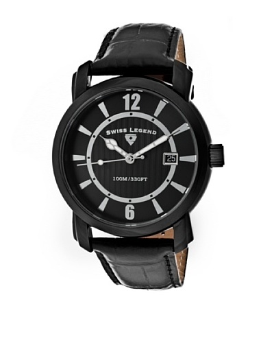 Swiss Legend Reloj Crusader Negro
