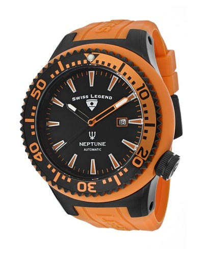 Swiss Legend Reloj Neptune Automatic Naranja