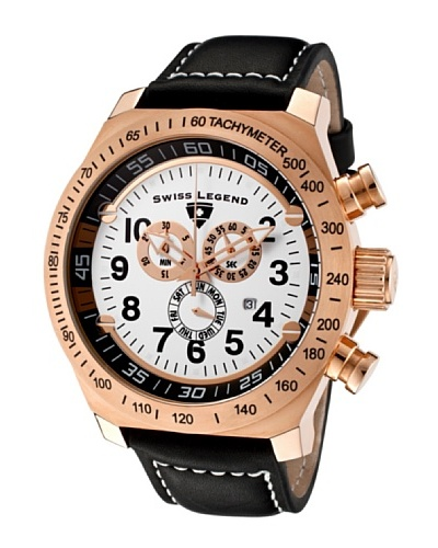 Swiss Legend Reloj Cronógrafo Pilot Negro