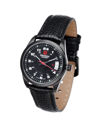 Swiss Military 066T1B - Reloj de Señora movimiento de cuarzo con correa de piel Negro