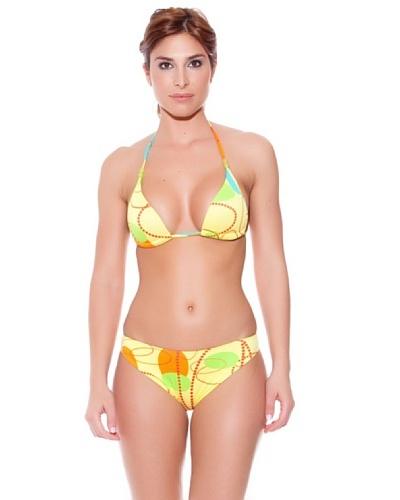 Teleno Bikini Triángulo con Foam Saturn Amarillo