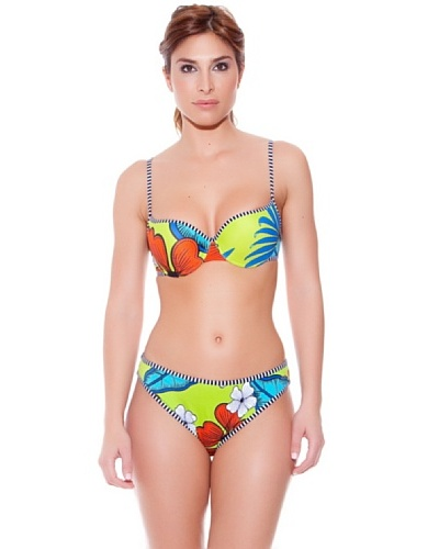 Teleno Bikini con Aro y Foam Hawaii Pistacho