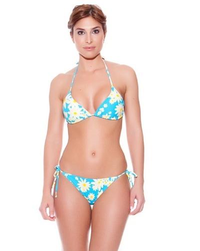 Teleno Bikini Cortina Fluor Turquesa