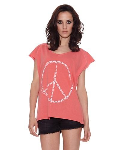 The Hip Tee Camiseta Peace + Star Coral