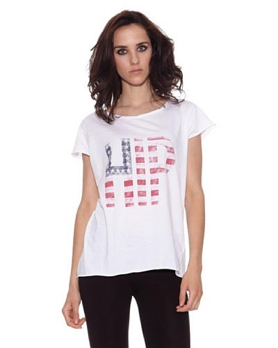 The Hip Tee Camiseta Hip Flag Blanco