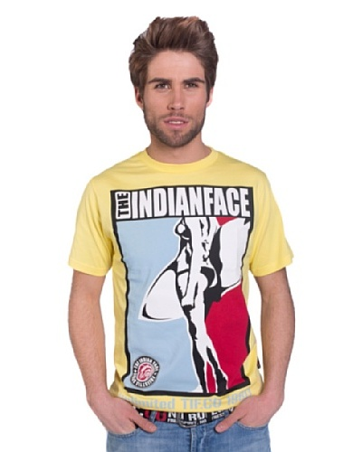 The Indian Face Camiseta Print Amarillo