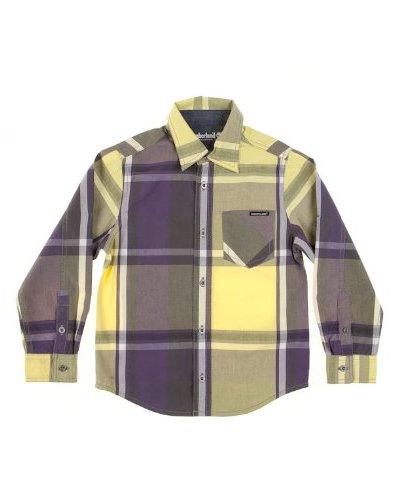 Timberland Camisa Bolsillo Amarillo / Morado