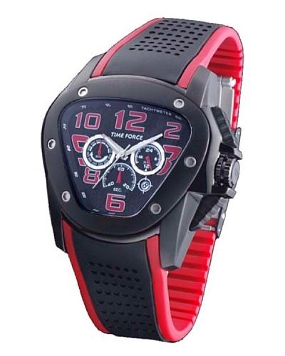 TIME FORCE TF3125M14 - Reloj de Caballero movimiento de cuarzo con correa de caucho