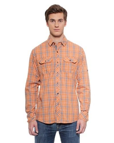 Timeout Camisa Cuadros Naranja