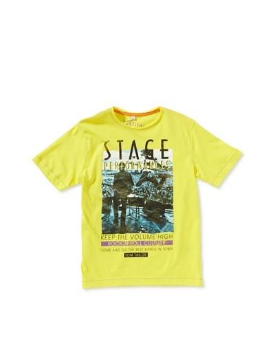 Tom Tailor Camiseta Prunus Amarillo