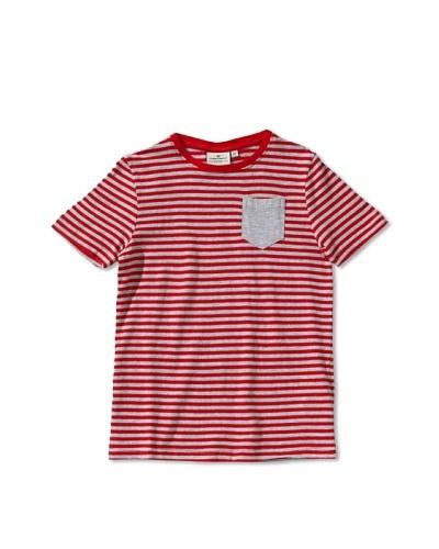 Tom Tailor Camiseta Castanea Rojo / Gris