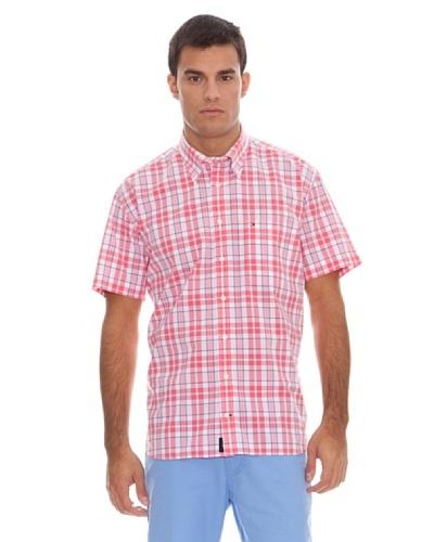 Tommy Hilfiger Camisa Cuadros Rosa / Blanco