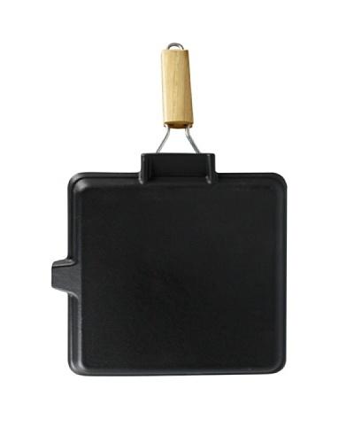 Tradifonte Grill De Hierro Fundido Cuadrado Color Negro .