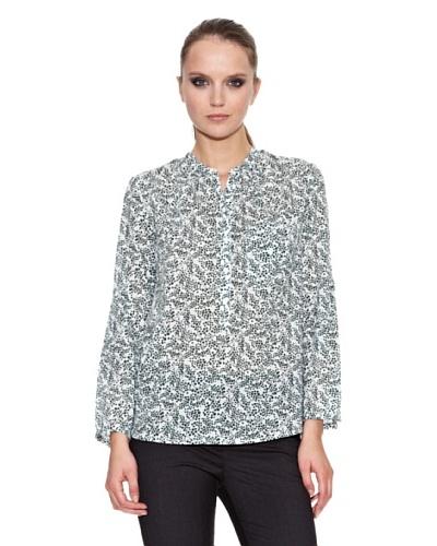 Trucco Blusa Causat Verde Oscuro / Blanco