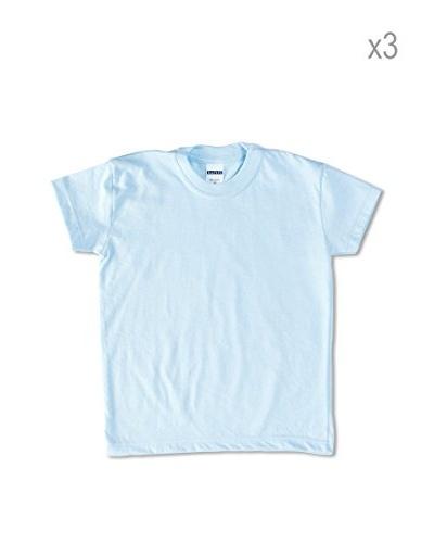 Uniformes De Colegio Pack x 3 Camisetas Azul Celeste 2 años (92 cm)