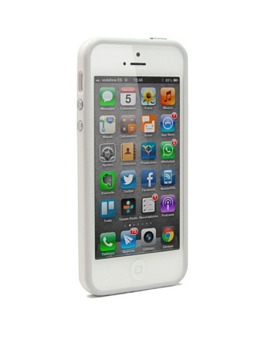 Unotec Funda Bumper Para Iphone5/5S Blanco