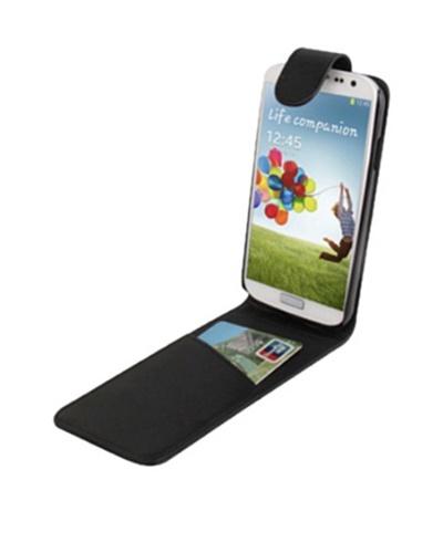 Unotec Funda Flip vertical para Galaxy S4 negra