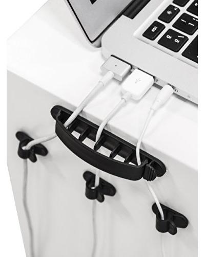 Unotec Organizador Cables Sobremesa (10X)