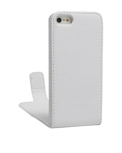 Unotec Funda Flip Vertical Blanca iPhone 5/5S