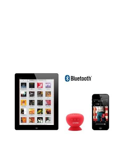 Unotec Altavoz Bluetooth con ventosa rojo