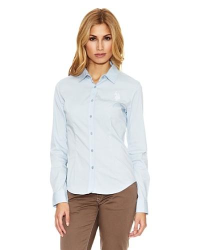 US Polo Assn Camisa Pinzas Azul Claro