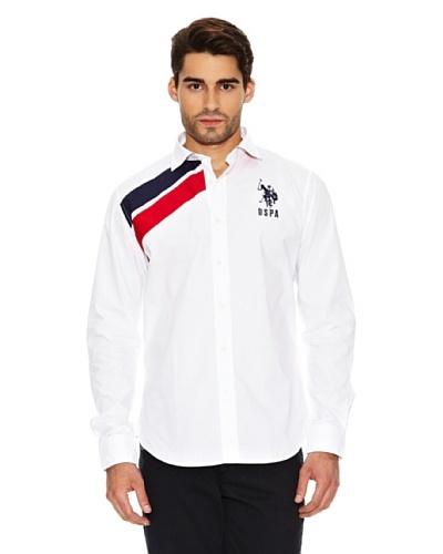 US Polo Assn Camisa Manga Larga Blanco