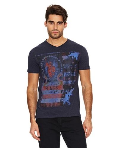 US Polo Assn Camiseta Print Bandera Azul Oscuro