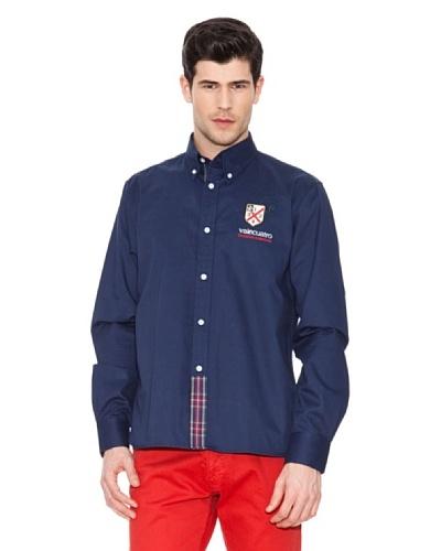 Valecuatro Camisa Firma Azul Marino