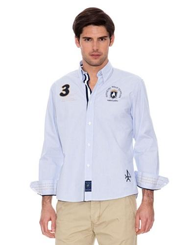Valecuatro Camisa Parche Azul Celeste