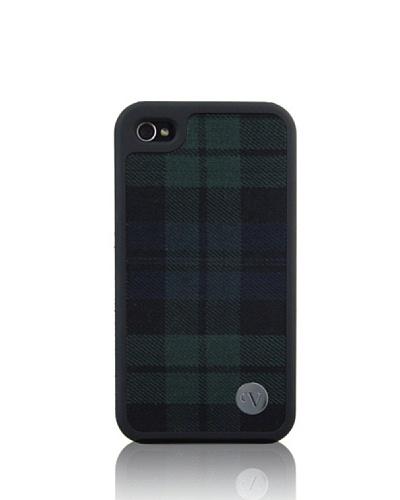 Vellutto Carcasa Trasera Iphone 4 Tela Cuadros Verdes