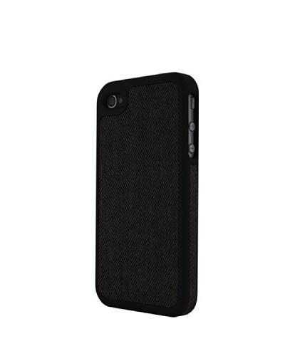 Vellutto Carcasa Trasera Iphone 4 Tela Espiga Gris