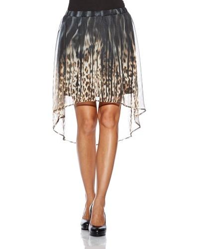 Vero Moda Falda Print Leopardo