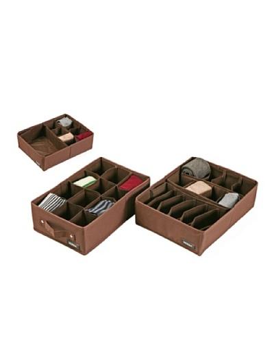 Versa Caja Organizadora con cajón grande Chocolate