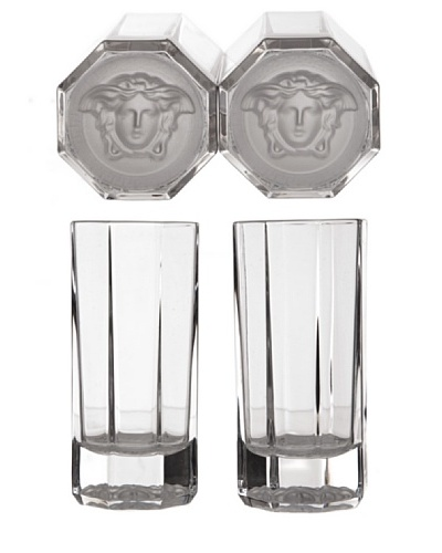 Versace Cofre Regalo 2 Vasos Aperitivo Medusa Lumiere