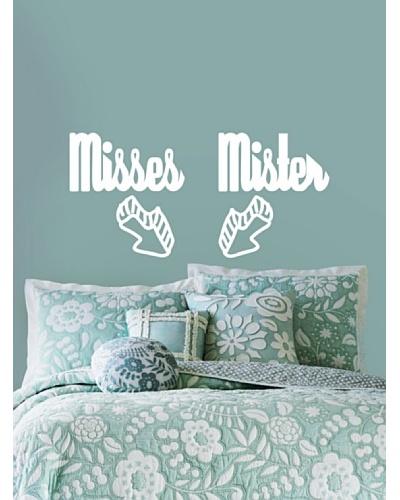 Viniloestil Vinilo cabeceros cama textuales Misses & Mister