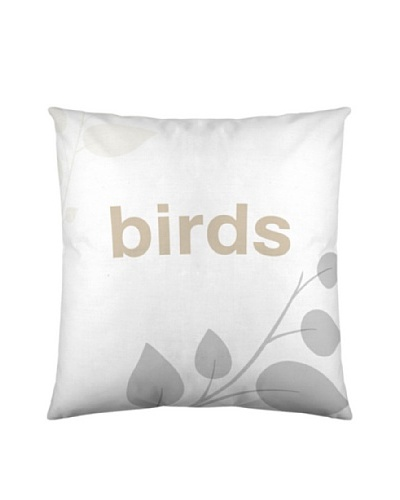 Wild About Words Funda de Cojín Birds Life 2