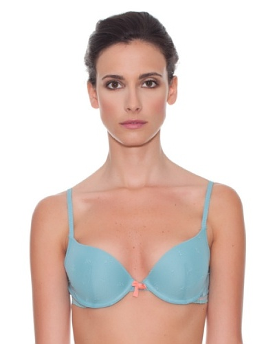 Women secret Sujetador Relleno Push Up Embo Copa B Azul