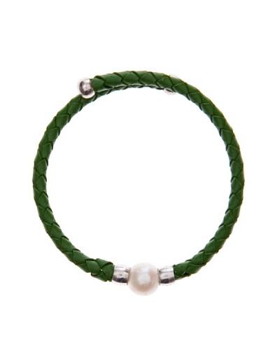 Yanes Pulsera  Cuero Verde Perla