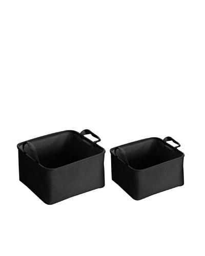 Zings Set de 2 cestas cuadradas Negras