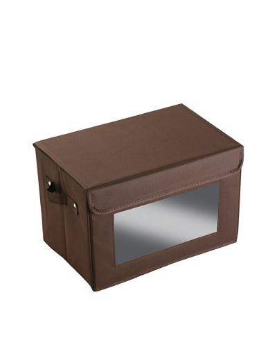 Zings Caja Mediana con ventana Chocolate