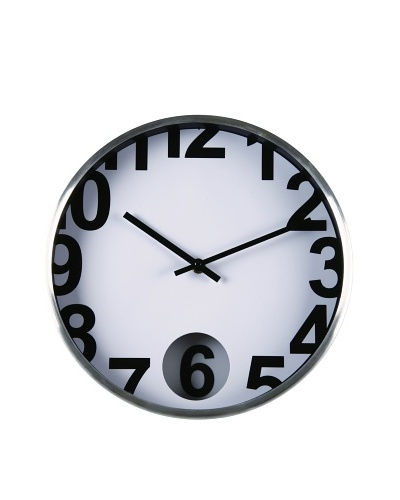 Zings Reloj Blanco Aluminio C/Borde Plata